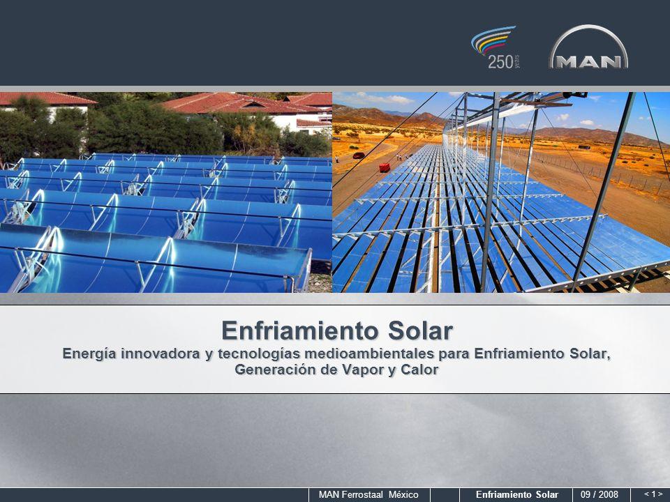 Enfriamiento Solar Energía innovadora y tecnologías medioambientales para Enfriamiento Solar, Generación de Vapor y Calor