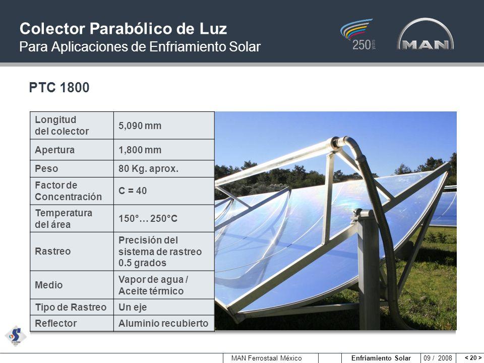 Colector Parabólico de Luz Para Aplicaciones de Enfriamiento Solar