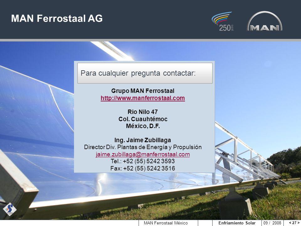 Grupo MAN Ferrostaal http://www.manferrostaal.com