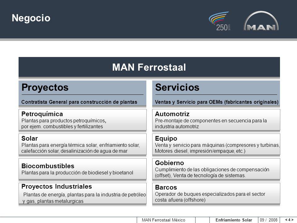 Negocio MAN Ferrostaal Proyectos Servicios