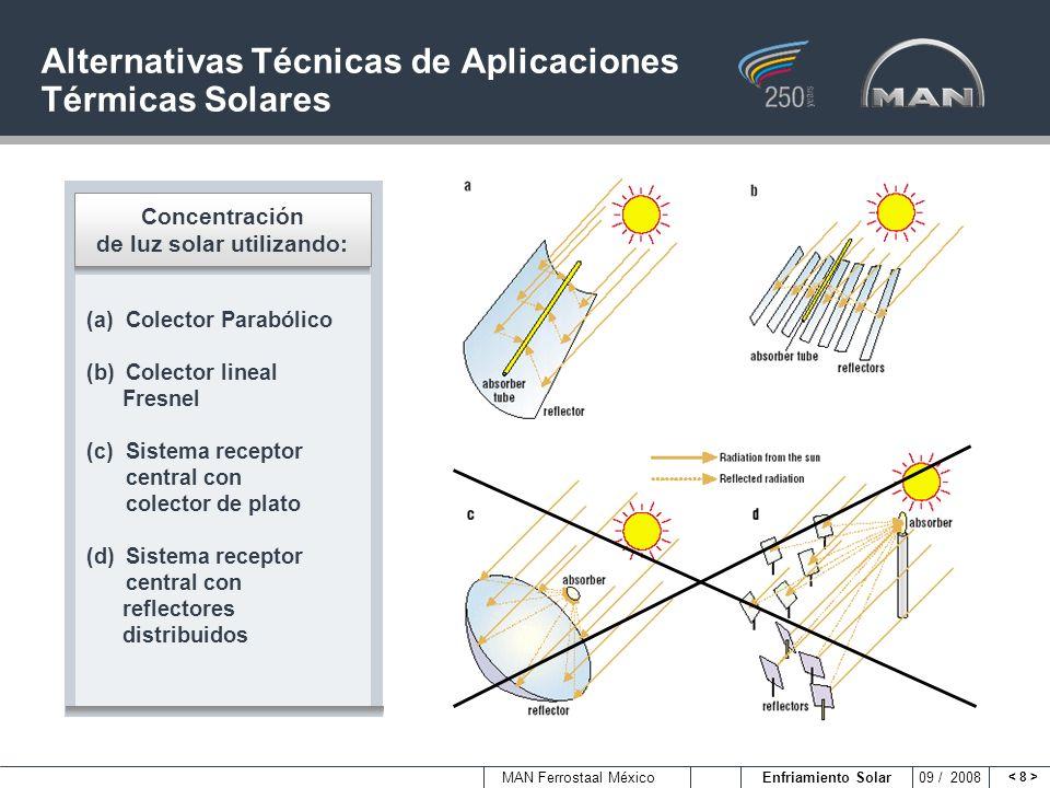 Alternativas Técnicas de Aplicaciones Térmicas Solares
