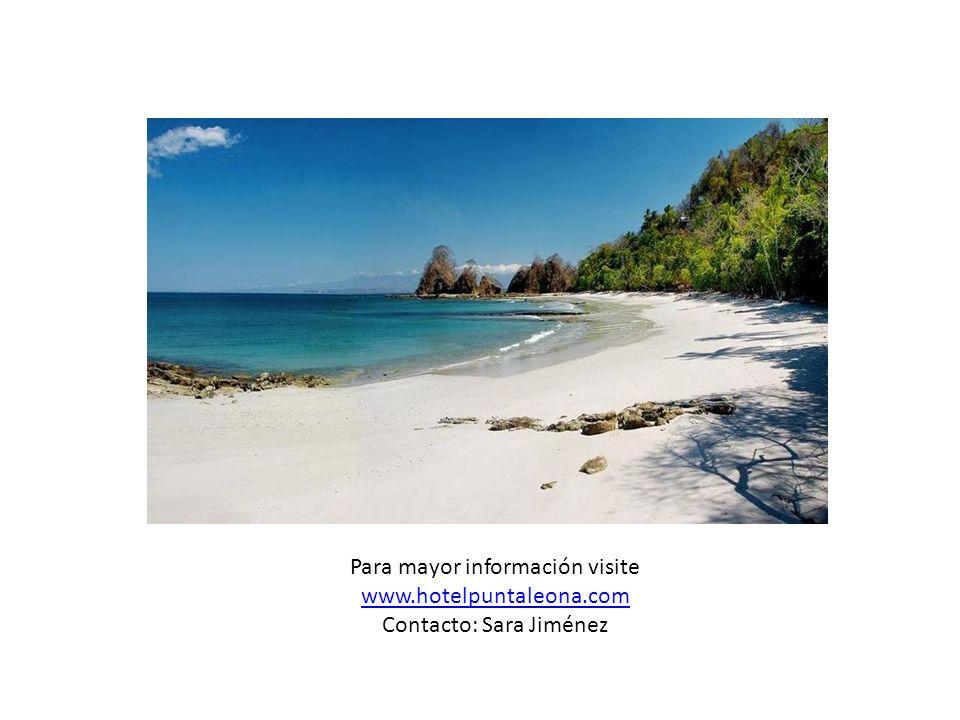 Para mayor información visite www.hotelpuntaleona.com