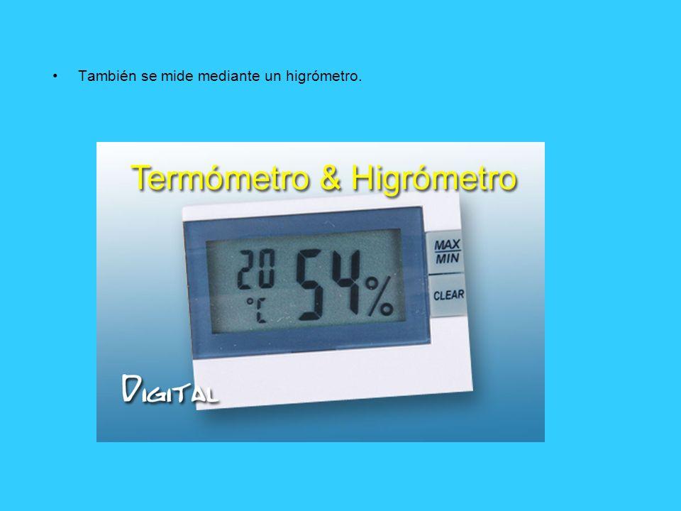 También se mide mediante un higrómetro.