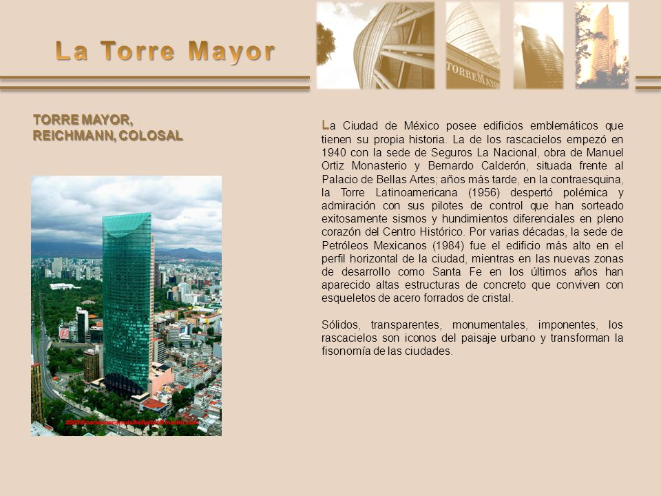 TORRE MAYOR, REICHMANN, COLOSAL.