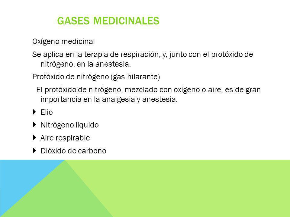 Gases medicinales Oxígeno medicinal