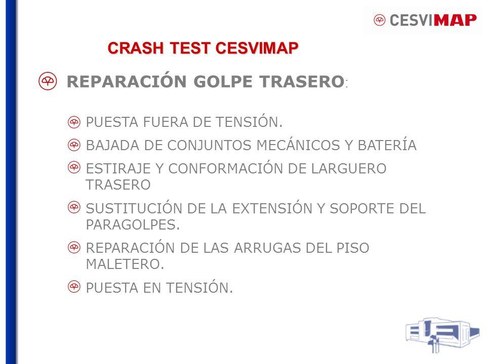 REPARACIÓN GOLPE TRASERO: