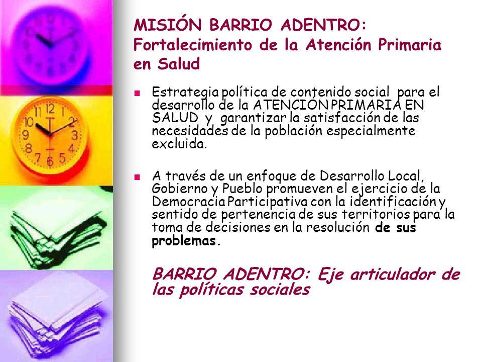 BARRIO ADENTRO: Eje articulador de las políticas sociales