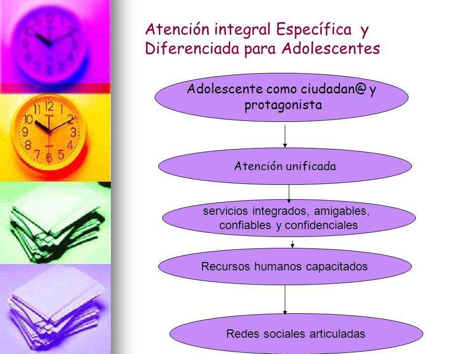Atención integral Específica y Diferenciada para Adolescentes