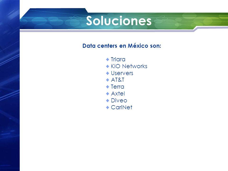 Soluciones Data centers en México son: Triara KIO Networks Uservers