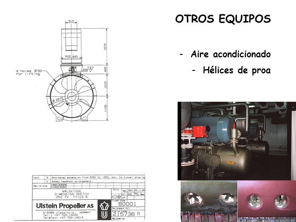 OTROS EQUIPOS Aire acondicionado Hélices de proa
