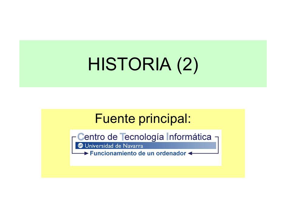 HISTORIA (2) Fuente principal: