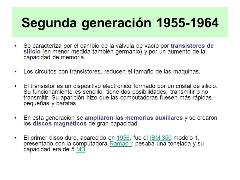 Segunda generación 1955-1964