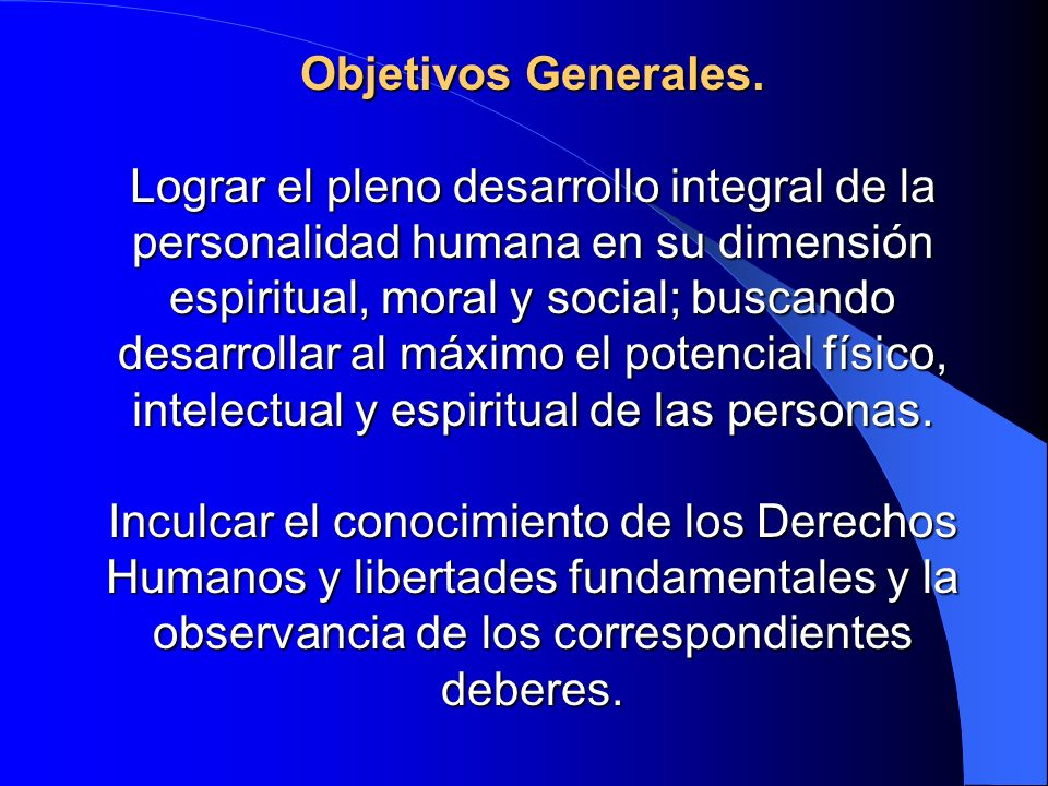 Objetivos Generales.