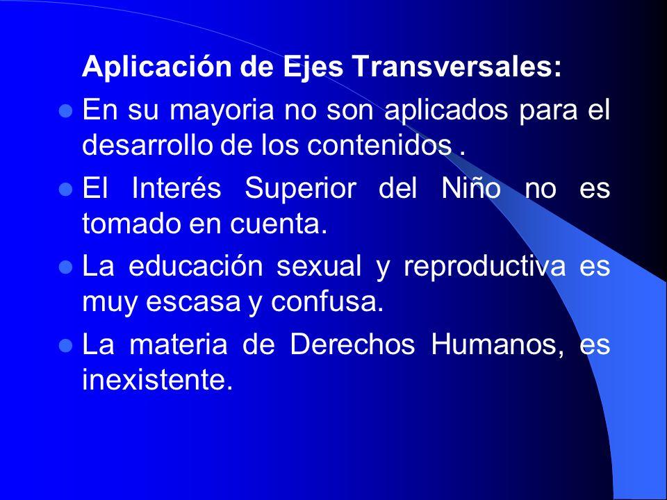 Aplicación de Ejes Transversales: