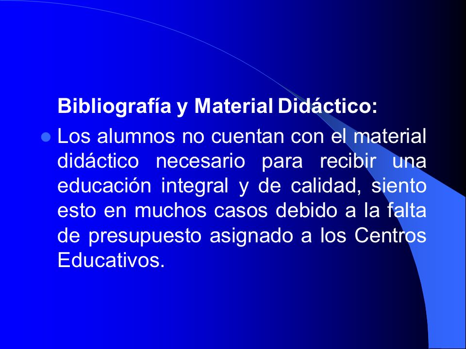 Bibliografía y Material Didáctico: