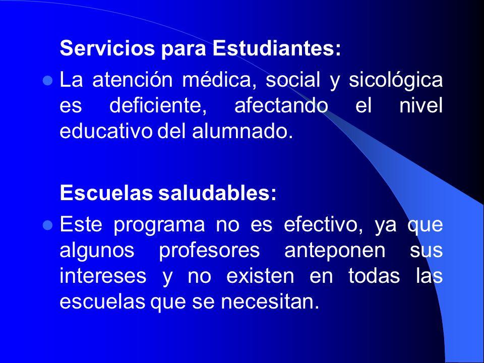 Servicios para Estudiantes: