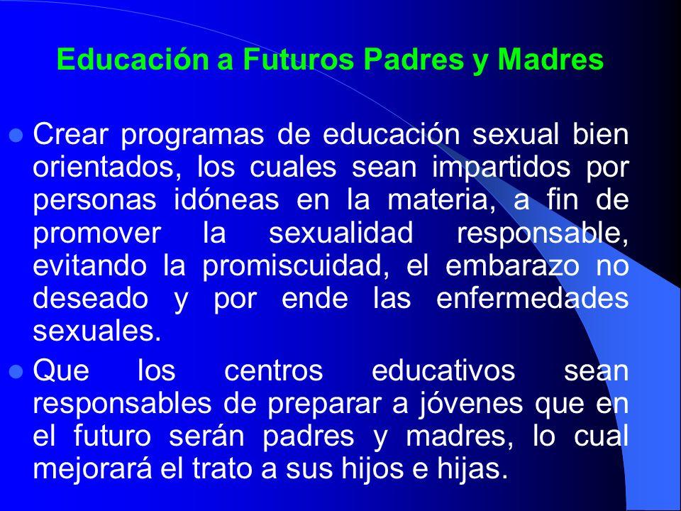 Educación a Futuros Padres y Madres