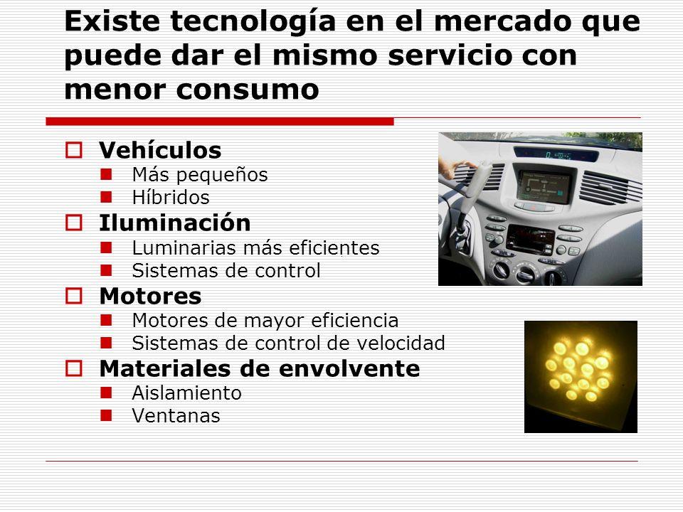 Existe tecnología en el mercado que puede dar el mismo servicio con menor consumo