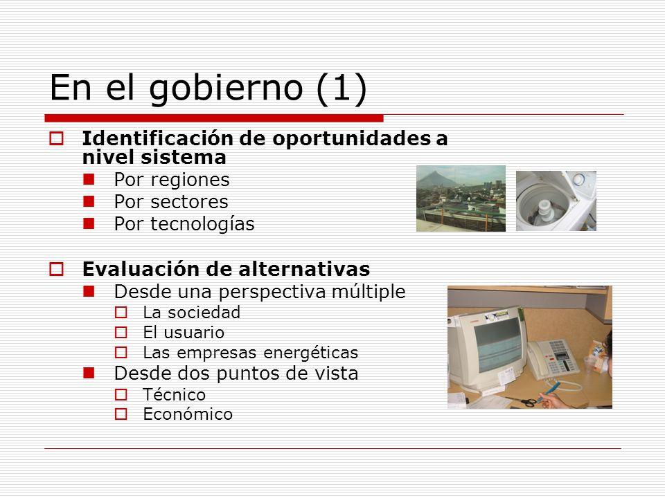 En el gobierno (1) Identificación de oportunidades a nivel sistema