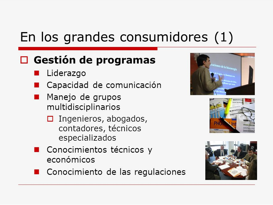 En los grandes consumidores (1)