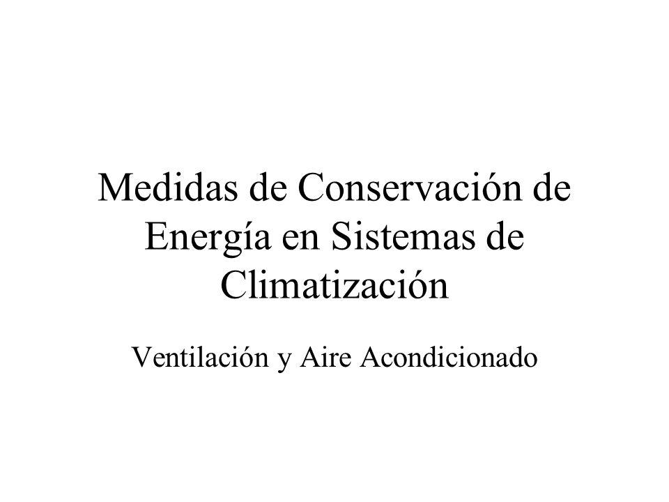 Medidas de Conservación de Energía en Sistemas de Climatización