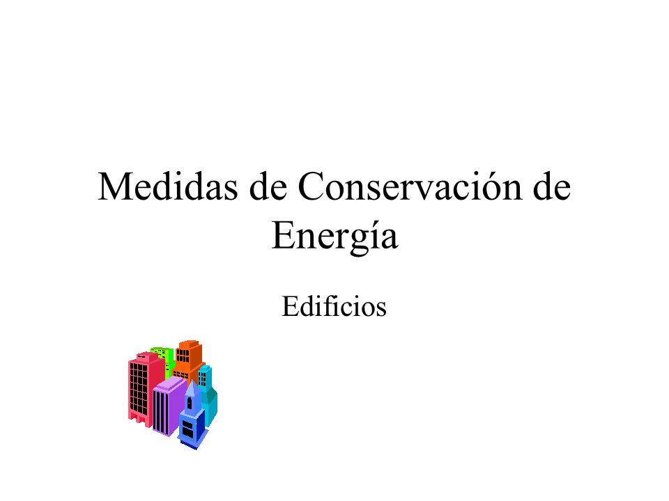 Medidas de Conservación de Energía