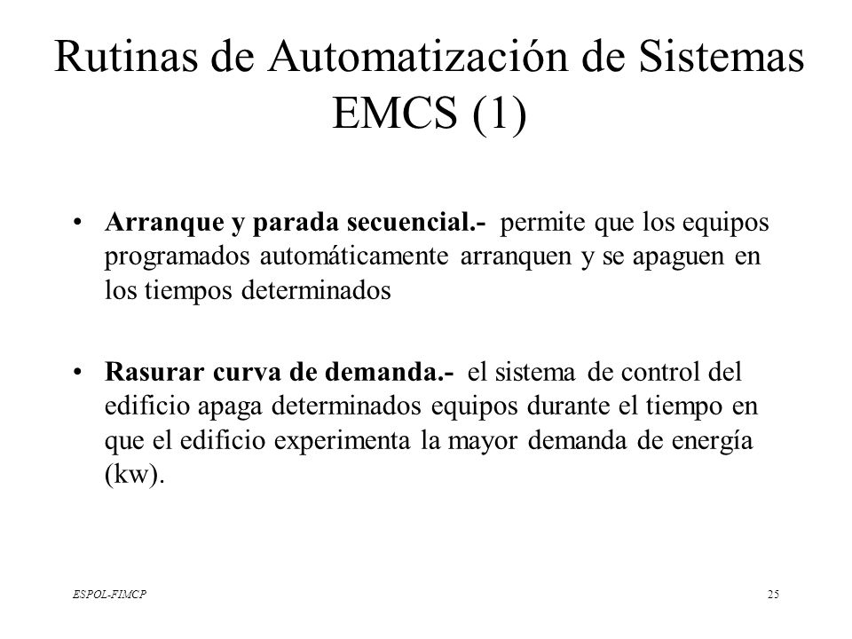 Rutinas de Automatización de Sistemas EMCS (1)