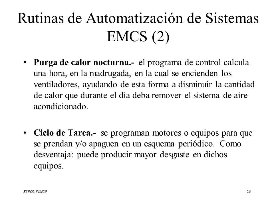 Rutinas de Automatización de Sistemas EMCS (2)
