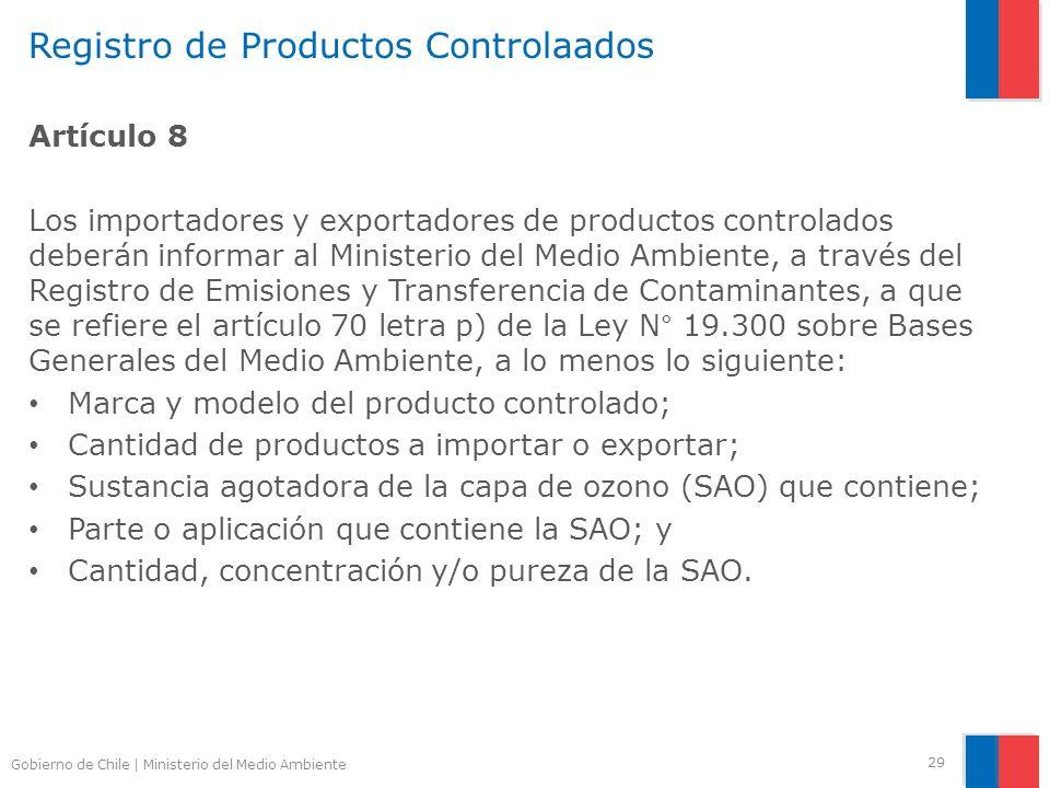 Registro de Productos Controlaados