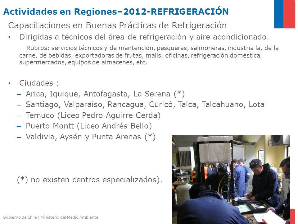 Actividades en Regiones–2012-REFRIGERACIÓN
