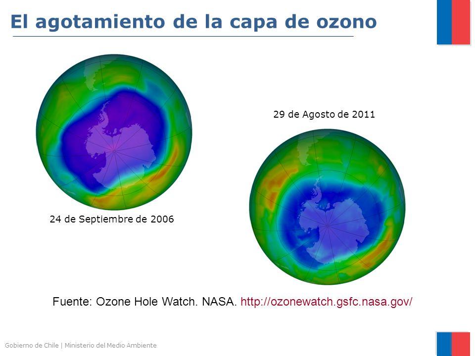 El agotamiento de la capa de ozono
