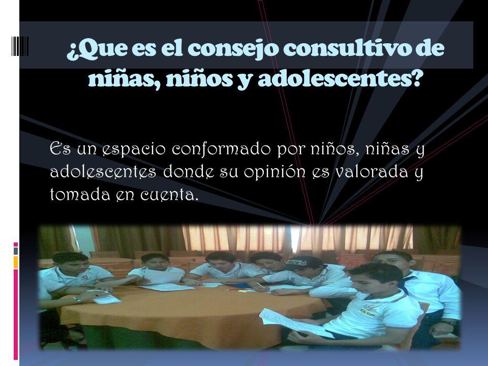 ¿Que es el consejo consultivo de niñas, niños y adolescentes