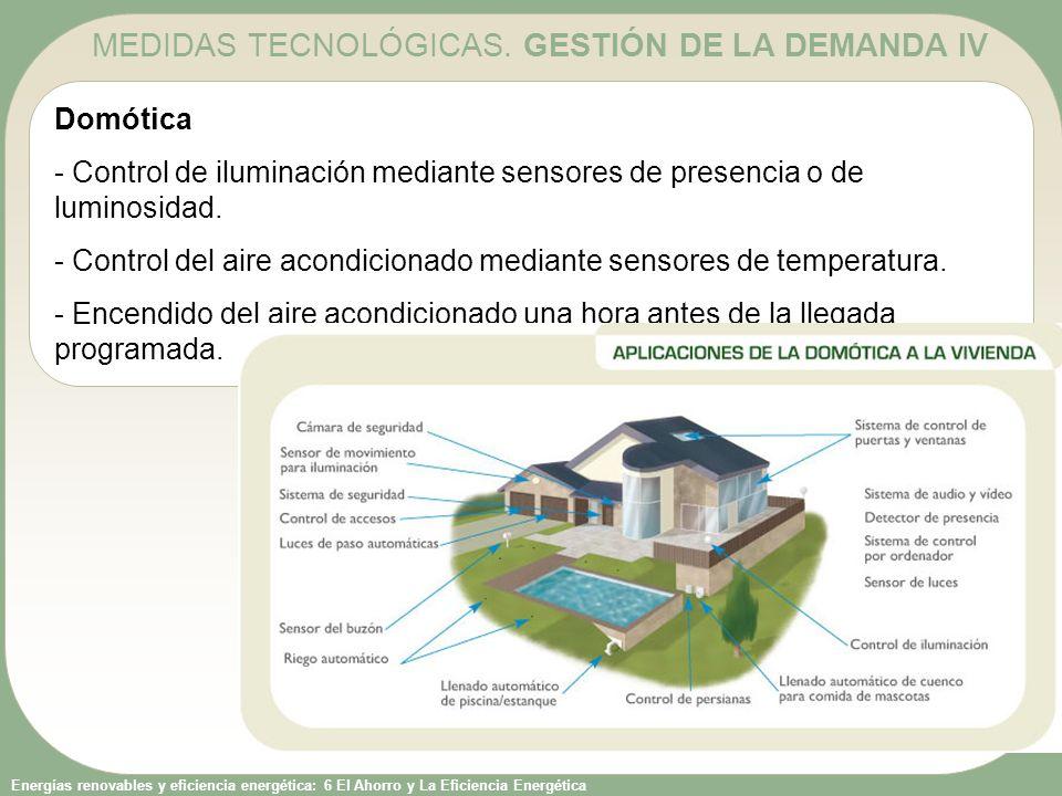 MEDIDAS TECNOLÓGICAS. GESTIÓN DE LA DEMANDA IV