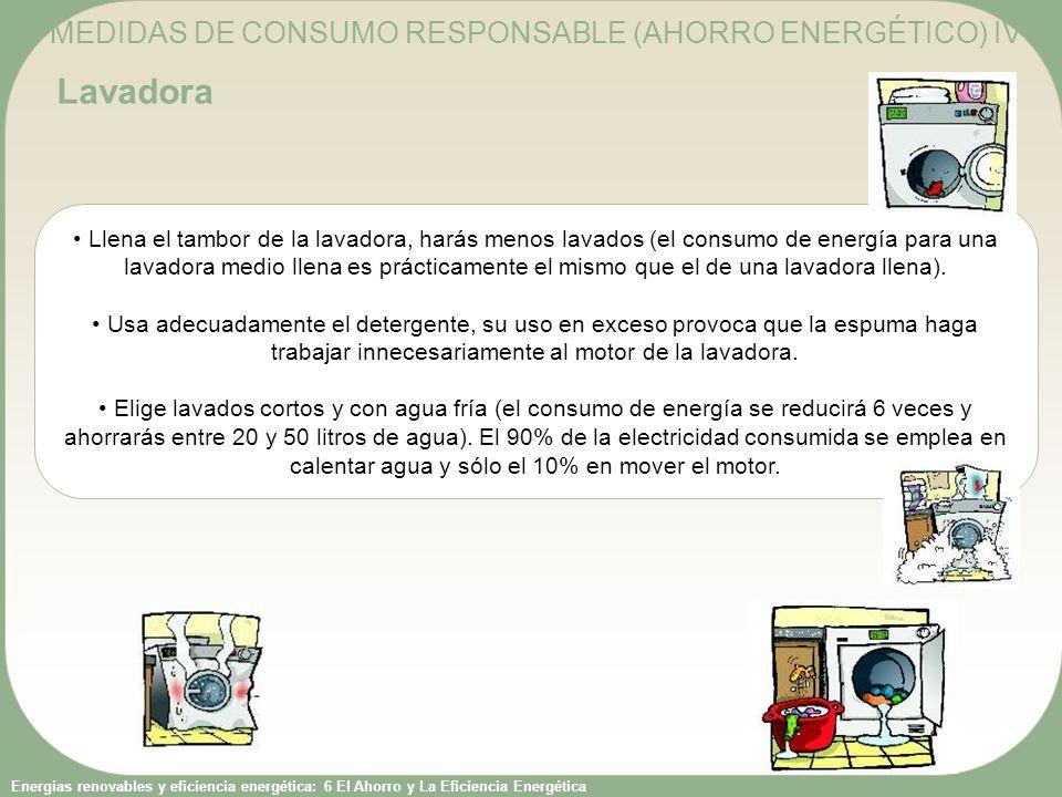 MEDIDAS DE CONSUMO RESPONSABLE (AHORRO ENERGÉTICO) IV