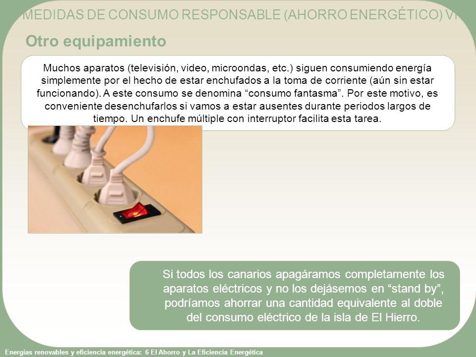 MEDIDAS DE CONSUMO RESPONSABLE (AHORRO ENERGÉTICO) VI