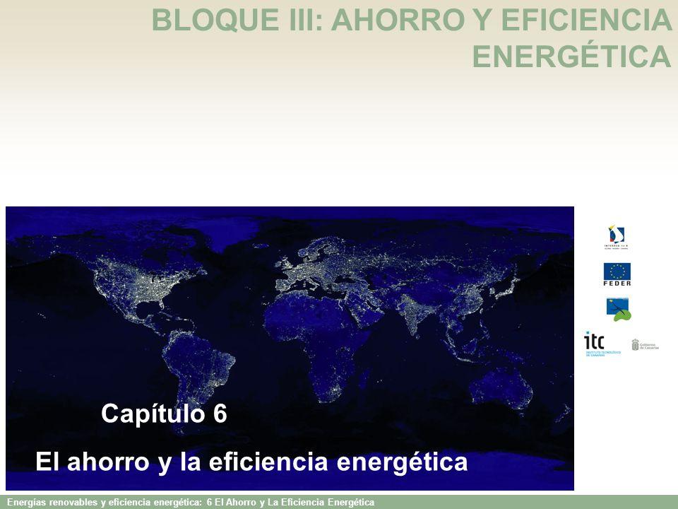 BLOQUE III: AHORRO Y EFICIENCIA ENERGÉTICA