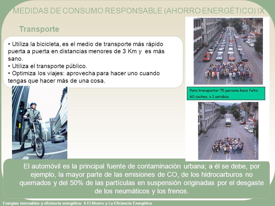 MEDIDAS DE CONSUMO RESPONSABLE (AHORRO ENERGÉTICO) IX