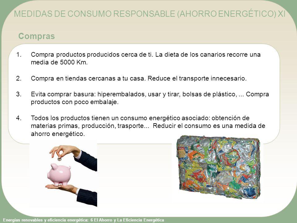 MEDIDAS DE CONSUMO RESPONSABLE (AHORRO ENERGÉTICO) XI