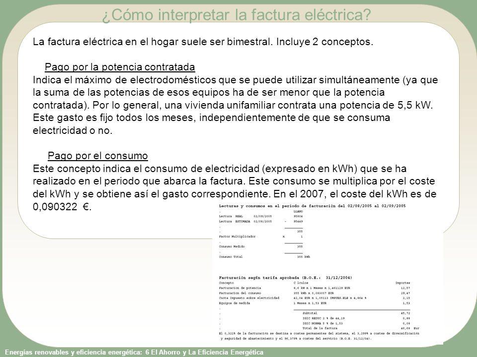 ¿Cómo interpretar la factura eléctrica