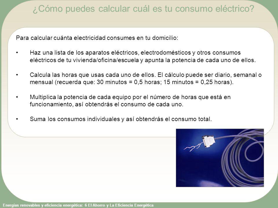 ¿Cómo puedes calcular cuál es tu consumo eléctrico