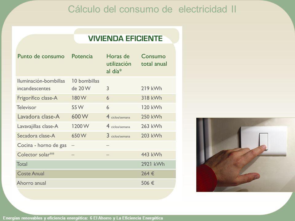 Cálculo del consumo de electricidad II