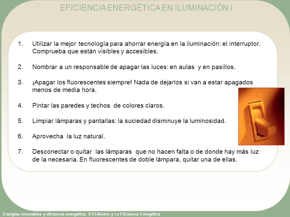 EFICIENCIA ENERGÉTICA EN ILUMINACIÓN I