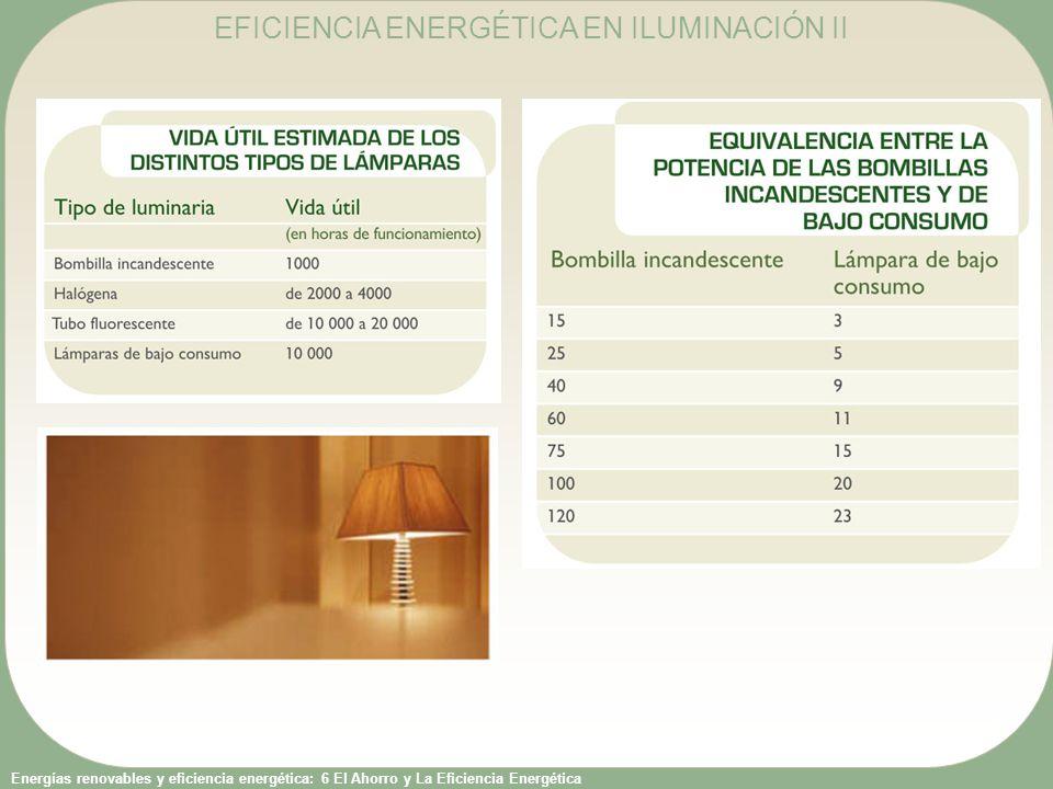 EFICIENCIA ENERGÉTICA EN ILUMINACIÓN II