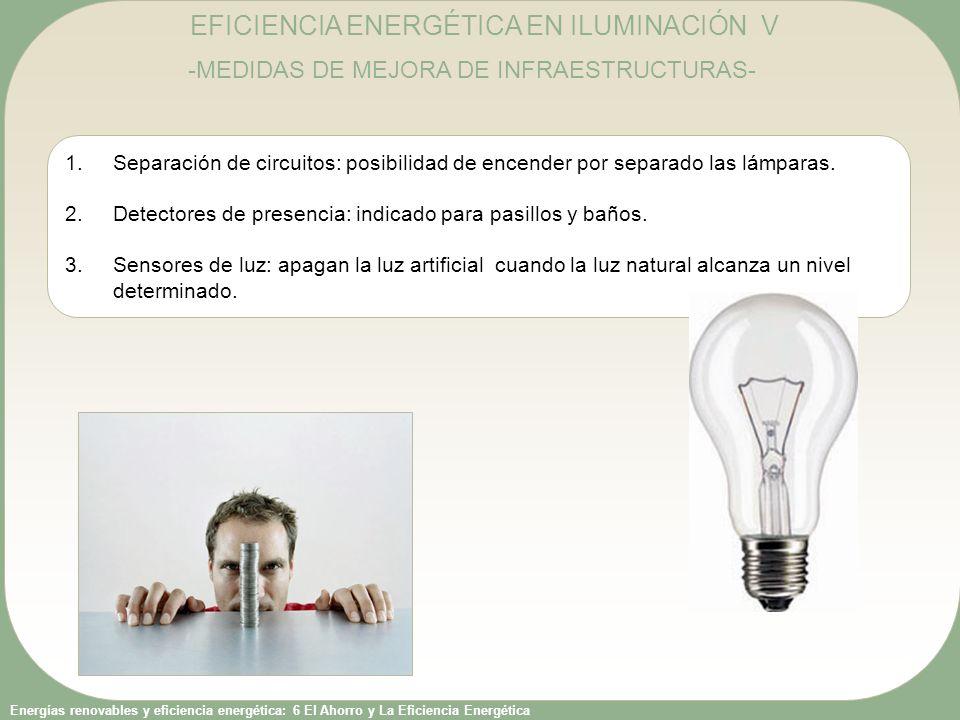 EFICIENCIA ENERGÉTICA EN ILUMINACIÓN V