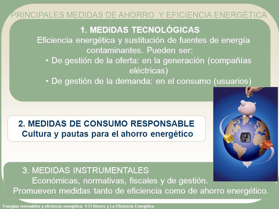 De gestión de la oferta: en la generación (compañías eléctricas)