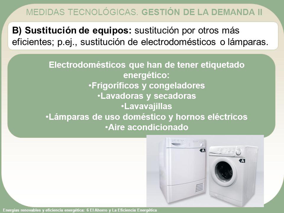 MEDIDAS TECNOLÓGICAS. GESTIÓN DE LA DEMANDA II