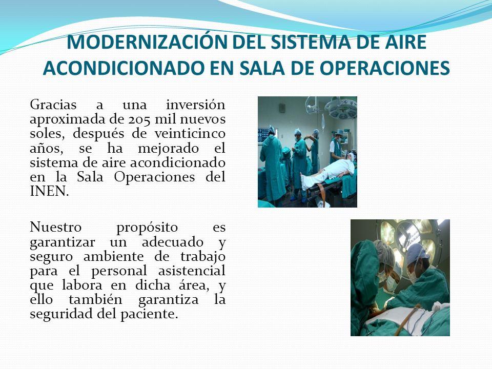 MODERNIZACIÓN DEL SISTEMA DE AIRE ACONDICIONADO EN SALA DE OPERACIONES