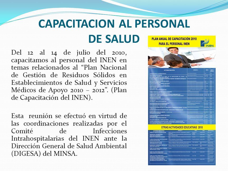 CAPACITACION AL PERSONAL DE SALUD