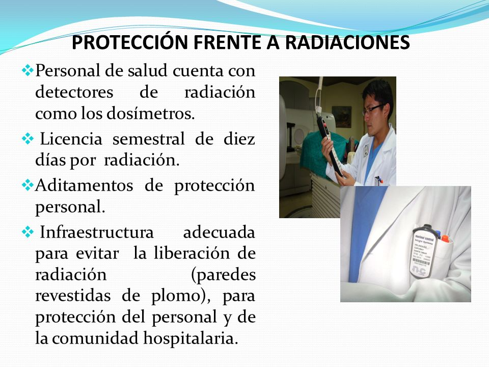 PROTECCIÓN FRENTE A RADIACIONES