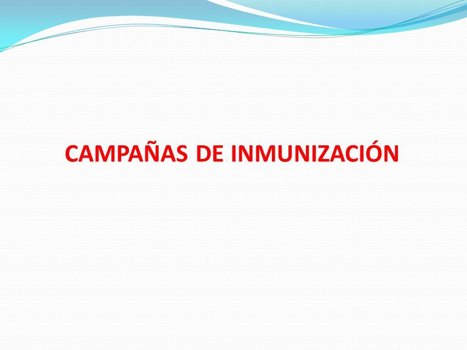CAMPAÑAS DE INMUNIZACIÓN
